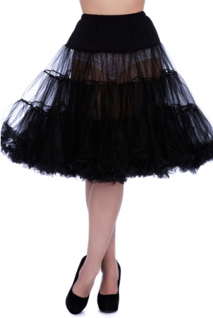 Black Froo Froo Skirt