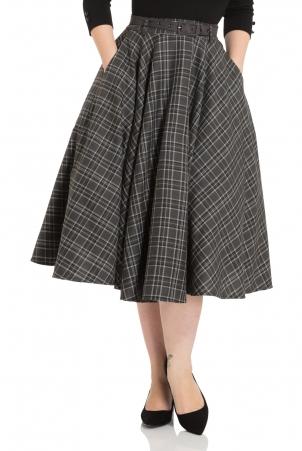 Bridget Tartan Flare Skirt