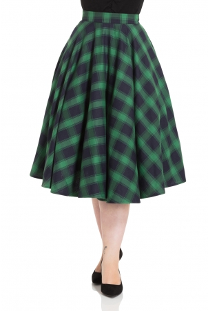 Marienne Green Full Circle Skirt