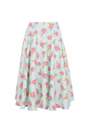 Vixen Curve Amy Floral Ice Cream Print Skirt