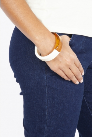 Slim Amber Stacking Bangle