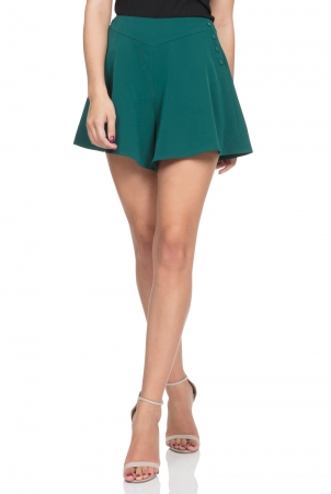 Mira Deep Green Swing Shorts
