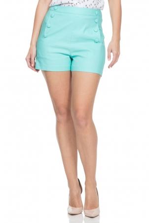 Evie High Waist Green Shorts