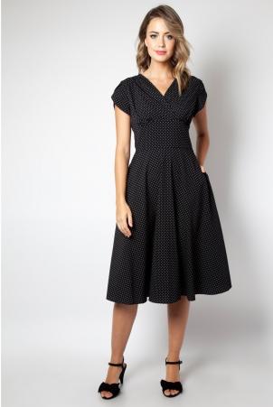 Tabby Black Polka Dot Tea Dress