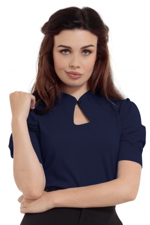 Dita Navy Keyhole Cut-out