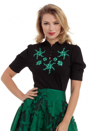 Estelle Puff Sleeve Floral Top