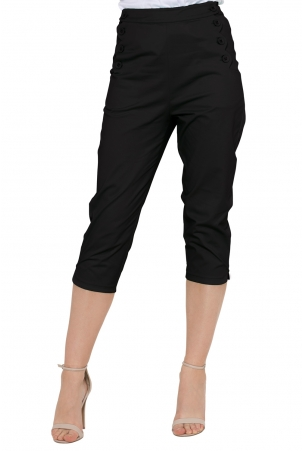 Becky Black High Waist Trousers