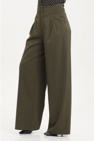 Ola Olive Green Trousers