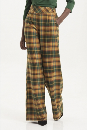 Nancy Tartan Flare Trousers