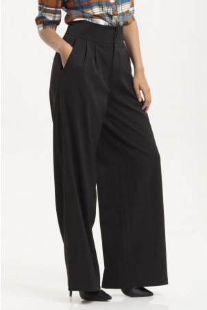 Charlotte Black Flared Trousers