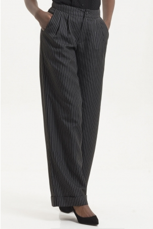 Amelia Dark Pin Striped Trouser