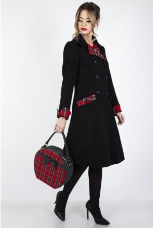 Vanessa Contrast Tartan Coat
