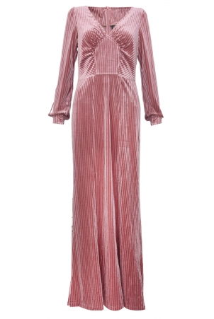 Edith Velvet Jewel Pink Gown