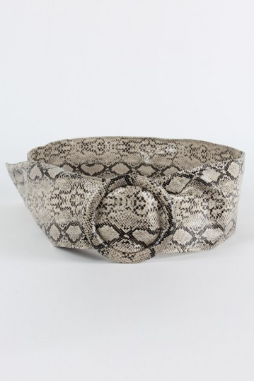 Cora Faux Snakeskin Waist Belt