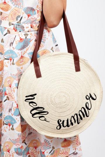 Hello Summer Wicker Bag