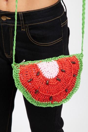 Zesty Watermelon Wicker Bag