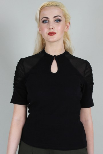 Camden Soft To Touch Black Blouse