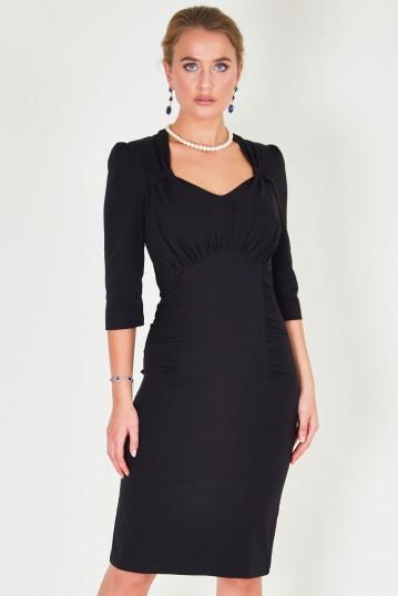 Camilla 3/4 Sleeve Dress with V-neck