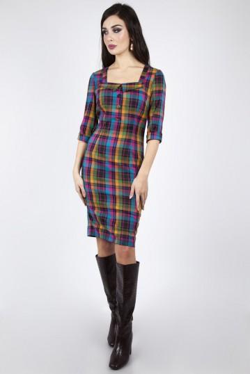 Camilla Plaid Pencil Dress