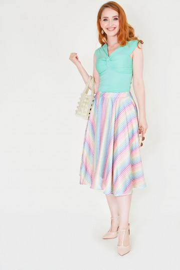 Courtney Gingham Skirt with Pockets