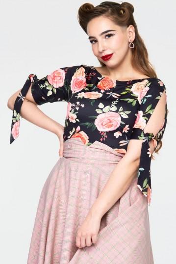 Curve Rosabeth Floral knit top
