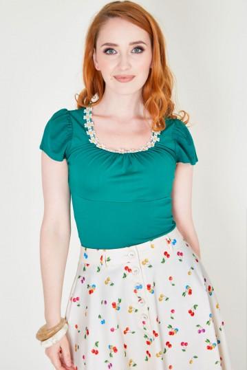 Debbie Daisy Top Green