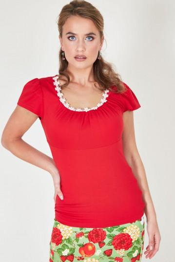 Debbie Daisy Top Red