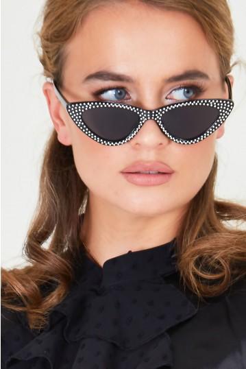 Dolly Sparkle Sunglasses in Black