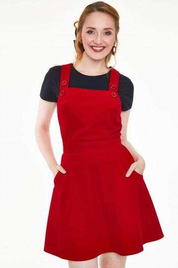 Donita Dungaree-style Corduroy Dress