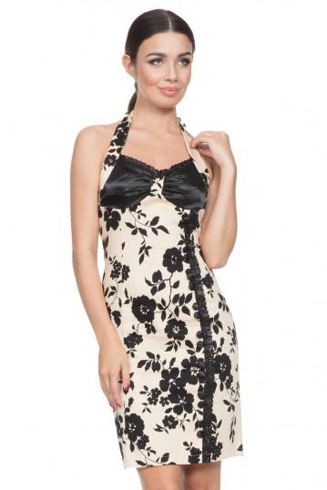 Kiki Halter Neck Fitted Dress