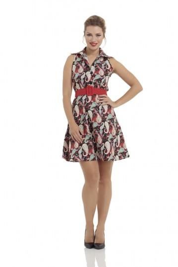 Saranya Vibrant Paisley Pattern Dress