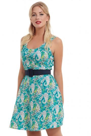 Isra Paisley Cotton Dress