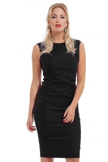 Claudette Black Wiggle Dress