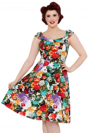 Beryl Flared Floral Dress