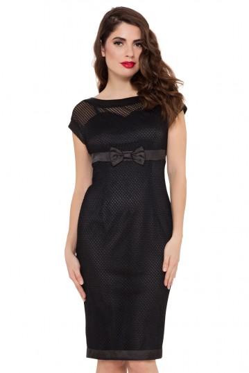 Lysa Black Mesh Wiggle Dress