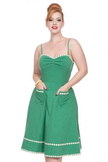 Deliliah Green Flared Dress
