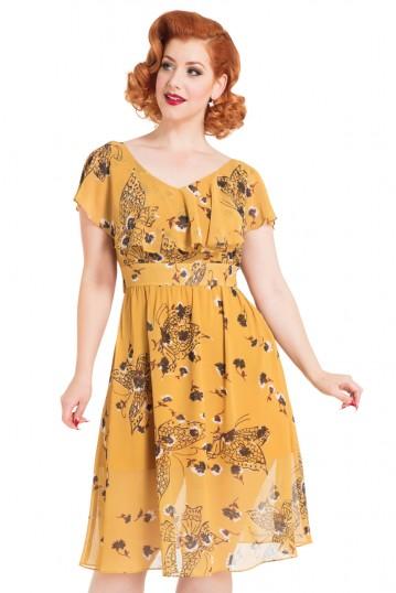 Posy Yellow Butterfly Dress