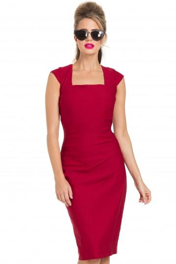 Lillian Red Pencil Dress