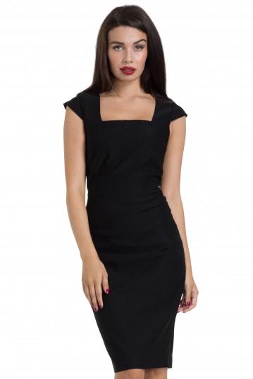 Lillian Black Pencil Dress