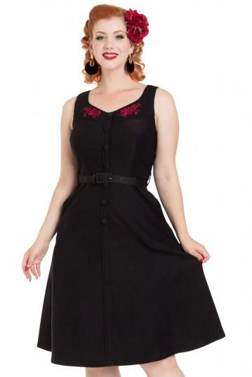 Juliette Embroidered Flared Dress