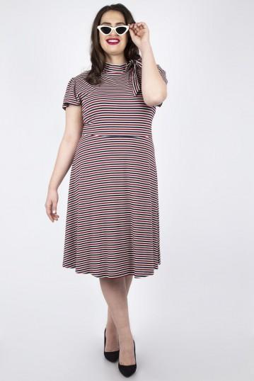 Curve Corinna Striped Tie Dress