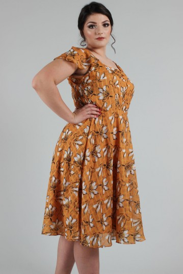 Curve Margot Floral Square Neck Dress