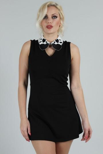Madison Heart-Collar Dress