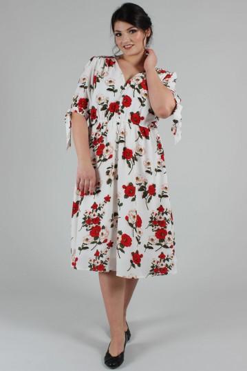 Curve Lorelei Floral Calf Length Dress
