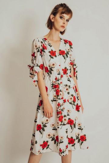 Lorelei Floral Calf Length Dress