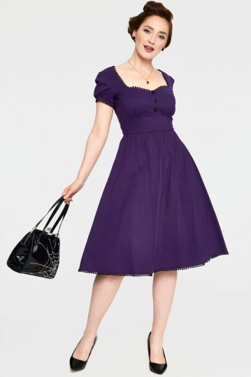Belladona Deep Purple Corset Dress