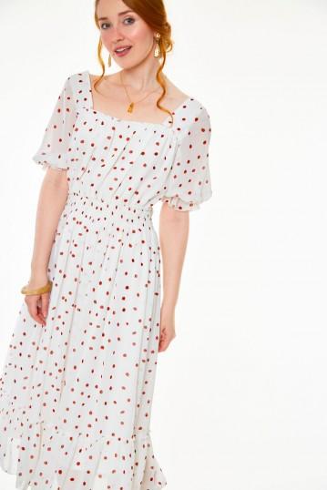 Rosita Strawberry print sleeved dress