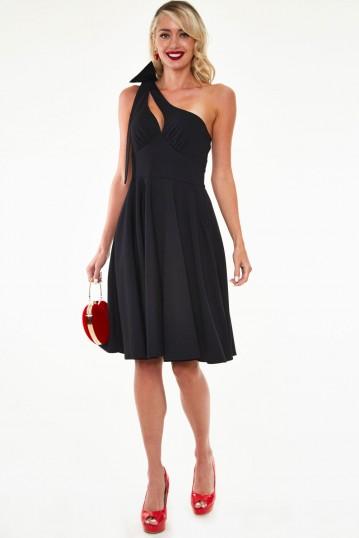 Selma One Shoulder Little Black Dress