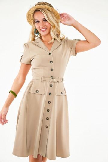 Ida Safari belted dress