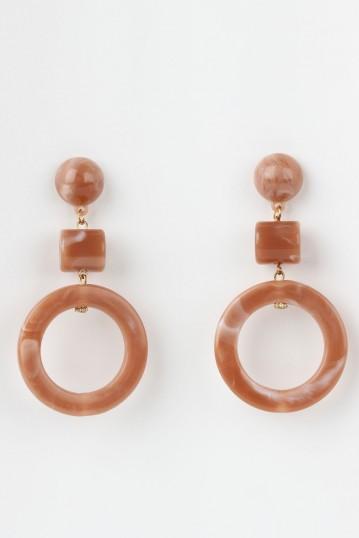 Ivory Blush Fakelite Earrings
